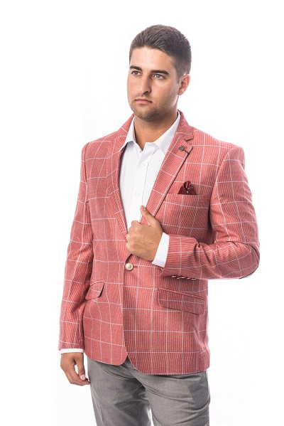 fashion plaid men blazers sports coat jacket ebbs1679m