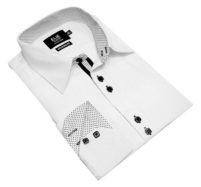 Elie Balleh Solid Hexagon Men's Shirts/Button Down
