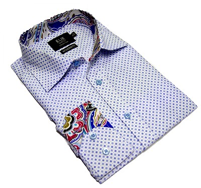 Elie Balleh Diamond Grid Men's Shirts/Button Down