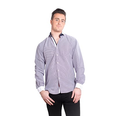 Geometric Men Shirts / Button Down EBSH125M