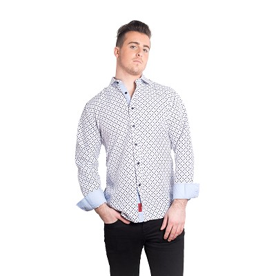 Elie Balleh Hounds Tooth Men Shirts / Button Down