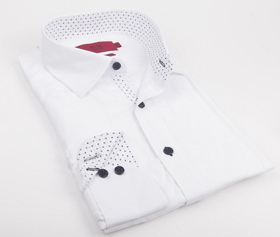 Elie Balleh Solid Textured Premium Men Shirts / Button Down