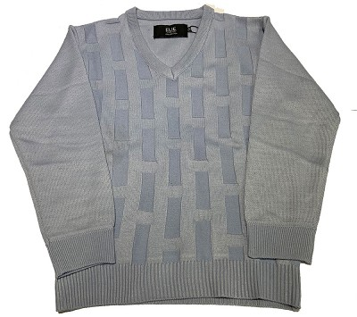 Elie Balleh Melange V Neck Grey Mens Sweater