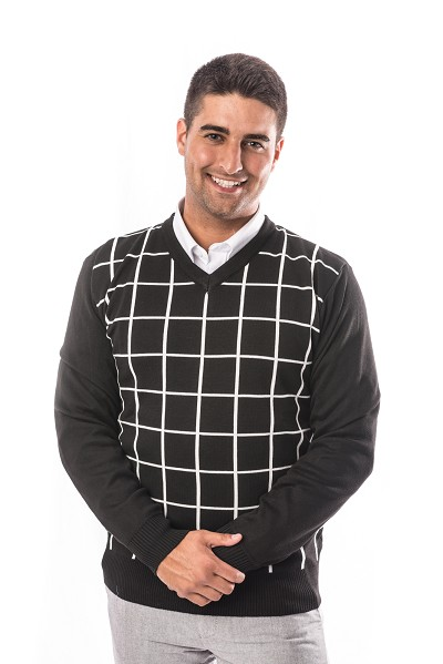 Plaid Men Sweater EBST1606M