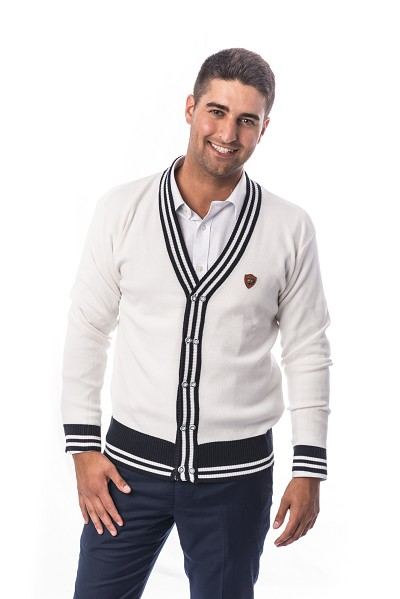 Elie Balleh Solid Cardigan Men Sweater