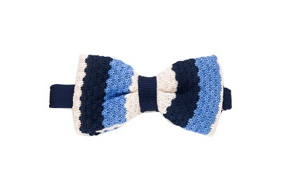 Elie Balleh Knit Wide Strips Boy's Bowties