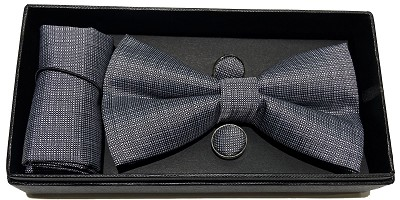 Elie Balleh Micro Checkered Fashion 3Pc Bowties Set