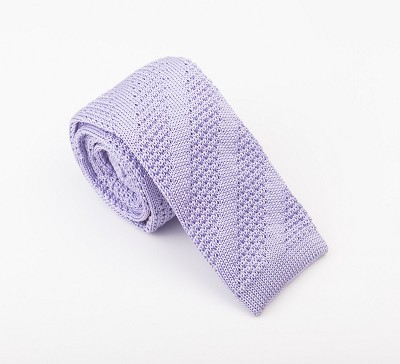 Elie Balleh Knit Solid Light Purple Mens Tie