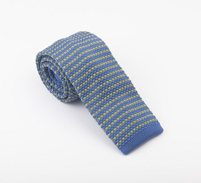 Elie Balleh Knit Strip Blue Boys Tie