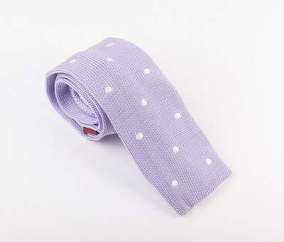 Elie Balleh Knit Polka Dots Light Purple Mens Tie