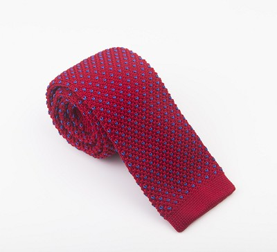 Elie Balleh Knit Fine Dots Wine Boys Tie