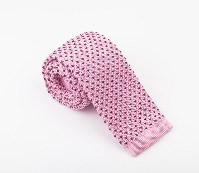 Elie Balleh Knit Fine Dots Wine Mens Tie