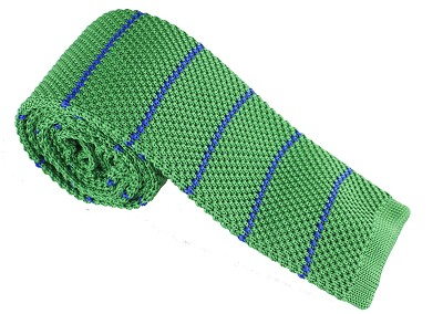 Elie Balleh Knit Strips Green Mens Tie