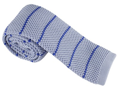 Elie Balleh Knit Strips Grey Boys Tie