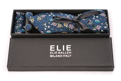 Boys premium floral 3pc tie set EBNTS209-1B